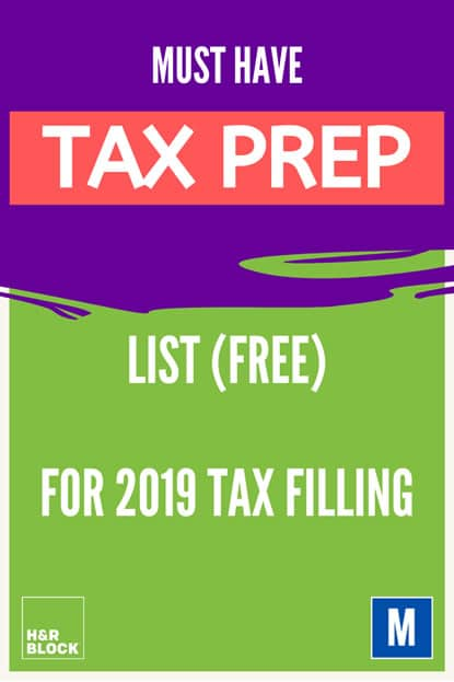 Your personalized Must have 2019 tax preparation list