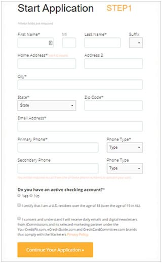 FIT Mastercard application - Step 1
