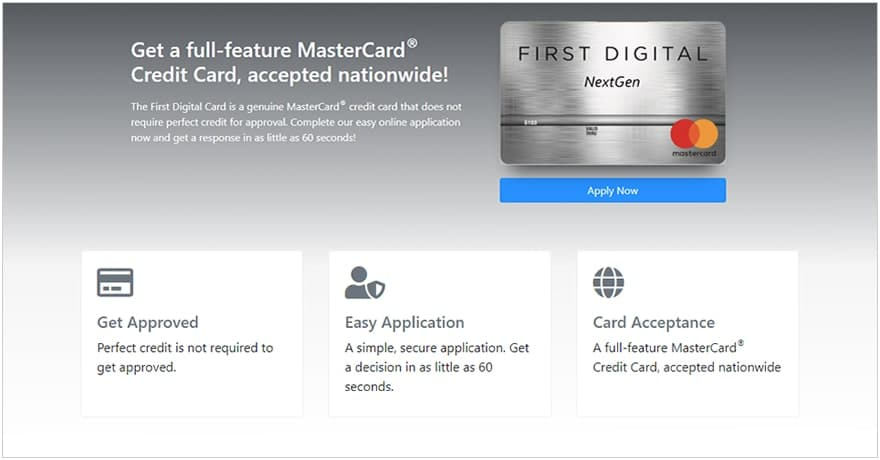 First Digital Mastercard Features